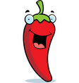 chili pepper smiling vector image vector image