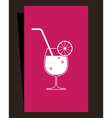 Cocktails menu design vector image vector image