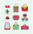 collection of woman bags vector image vector image