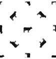 cow pattern seamless black vector image vector image