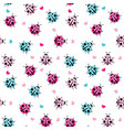 cute ladybug seamless pattern background vector image
