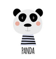 cute little panda animal icon vector image vector image