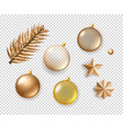 different christmas elements collection objects vector image vector image