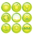 Ecology Icon Set Set of Green Eco Buttons vector image vector image