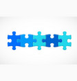 five piece puzzle connected in line solution vector image vector image