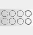 hand drawn circles sketch frame super set rounds vector image