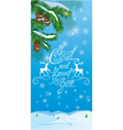 Handwritten text Merry Christmas and happy New Yea vector image vector image