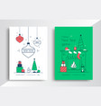 happy new year greeting card design template vector image