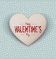 Happy Valentines Day realistic paper Heart Card vector image