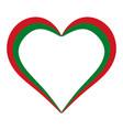 heart shape flag belarus i love belarus vector image vector image