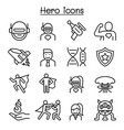hero icon set in thin line style vector image