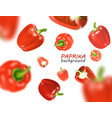 isolated flying vegetables falling sweet red vector image vector image