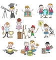 Kids hobbies doodle drawings vector image vector image