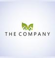 leaf logo ideas design vector image vector image