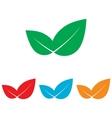 Leaf sign Colorfull set vector image vector image