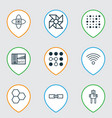 learning icons set with computational complexity vector image vector image
