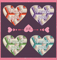 lettering valentines day in hearts 4 vector image vector image