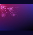 lightning flash strike background vector image vector image