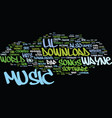 lil waynes music text background word cloud vector image vector image