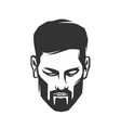mans face with beard vector image vector image