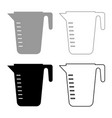 measuring capacity cup icon set grey black color vector image