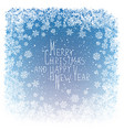 Merry Christmas Greeting New Year Postcard Design vector image vector image