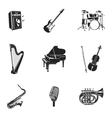 Musical Instruments And Equipment Set vector image