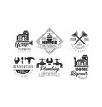 original monochrome emblems for plumbing and home vector image vector image