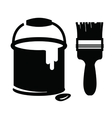 paint and brush vector image vector image