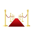 red event carpet isolated on a white background vector image