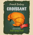 retro french croissant poster vector image