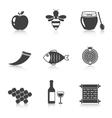 Rosh Hashanah Shana Tova icons vector image vector image