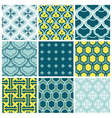 Seamless backgrounds Collection - Vintage Tile vector image vector image