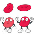 set of red blood cell vector image