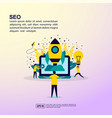 startup concept with people character for banner vector image