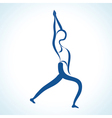 stylized yoga pose vector image vector image