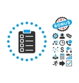 Test Task Flat Icon with Bonus vector image vector image