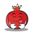 tongue out pomegranate cartoon character style vector image vector image