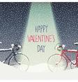 valentines card design vector image