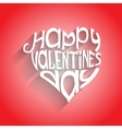 Valentines day card with lettering in heart-form vector image vector image