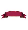 vinous ribbon banner satin blank design label vector image vector image
