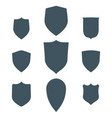 vintage shields set isolated design vector image vector image
