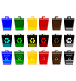 waste bins - set waste separation vector image