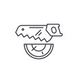 wood saw line icon concept wood saw linear vector image vector image