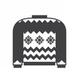 woolen winter sweater vector image vector image
