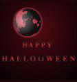 red happy halloween moon night vector image