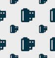 35 mm negative films icon sign Seamless pattern vector image vector image