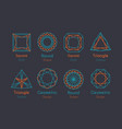 abstract logo or emblems set vector image vector image