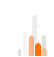 arrows up background orange gray vector image