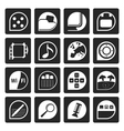 Black Phone Performance Internet and Office Icons vector image